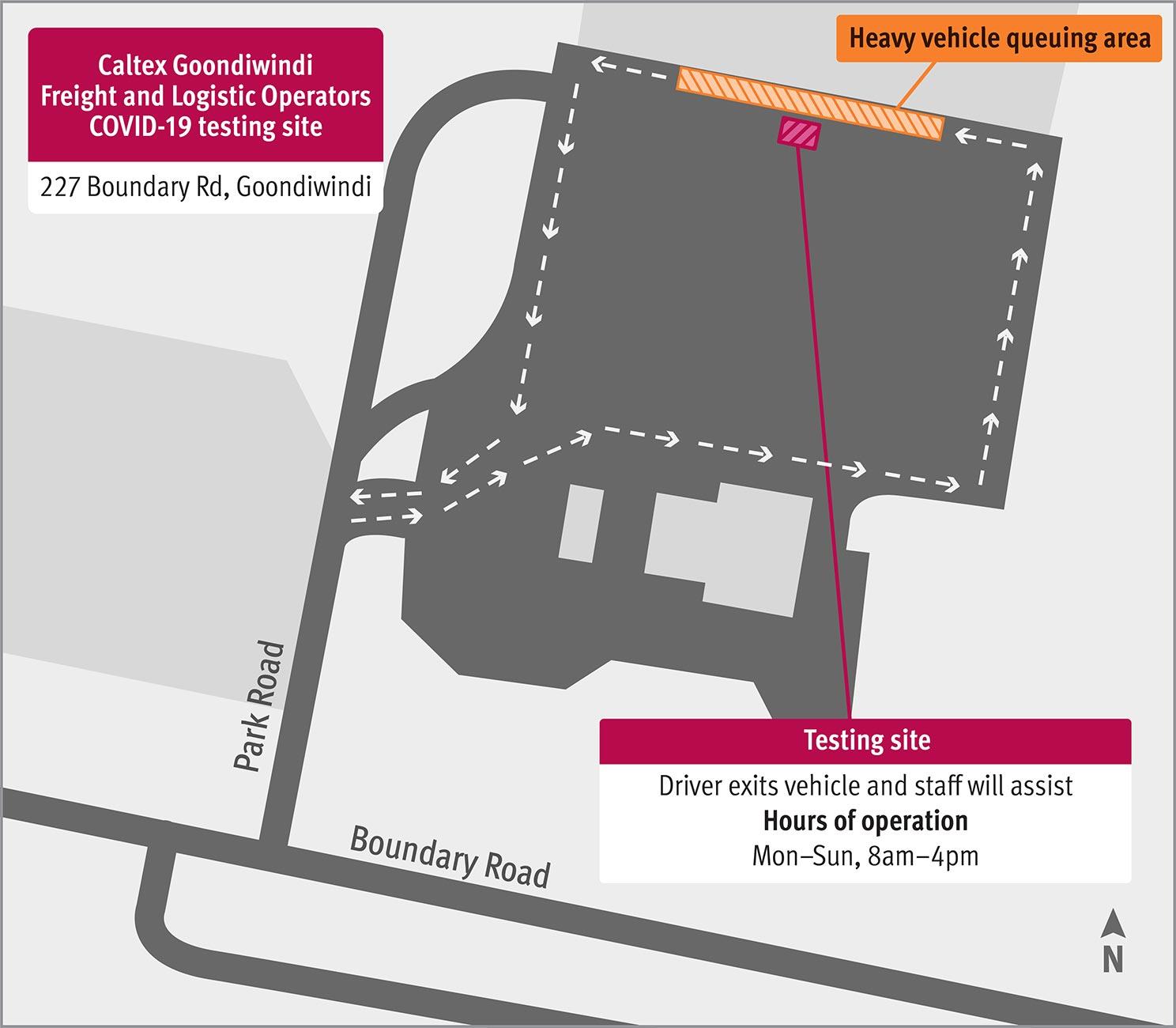 Goondiwindi testing centre map